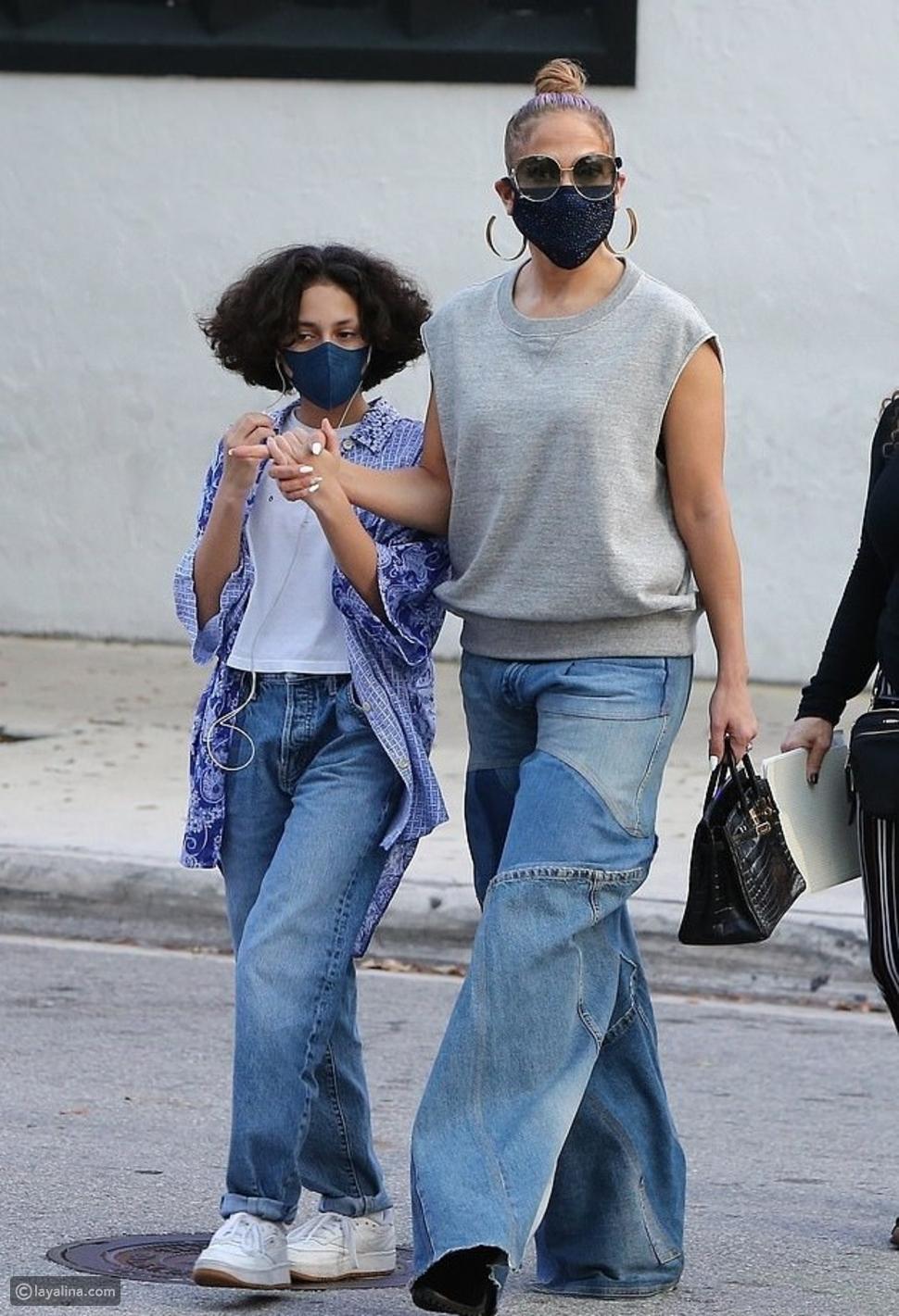 جينيفر لوبيز مع ابنتها