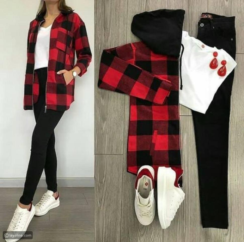 أنسب ألوان وتصميمات أزياء الشتاء الكاجوال الملائمة للحذاء الأبيض