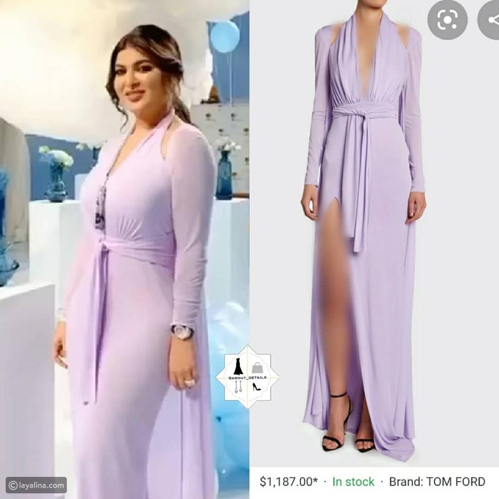 فستان أميرة محمد في عيد ميلادها