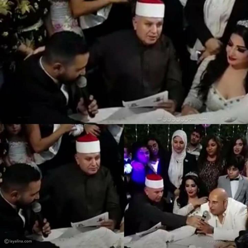 فيديو تصرف عفوي من أحمد سعد في حفل عقد قرانه على سمية الخشاب