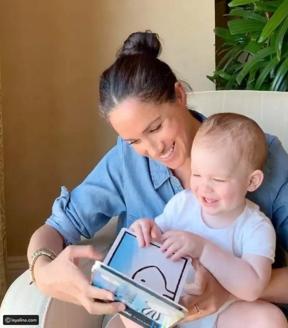 ميغان ماركل مع ابنها آرتشي