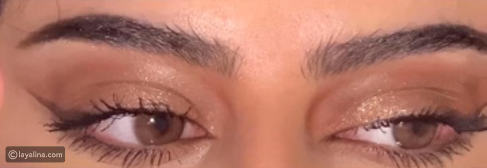 مكياج عيون ناعم من لوجين عبدالله