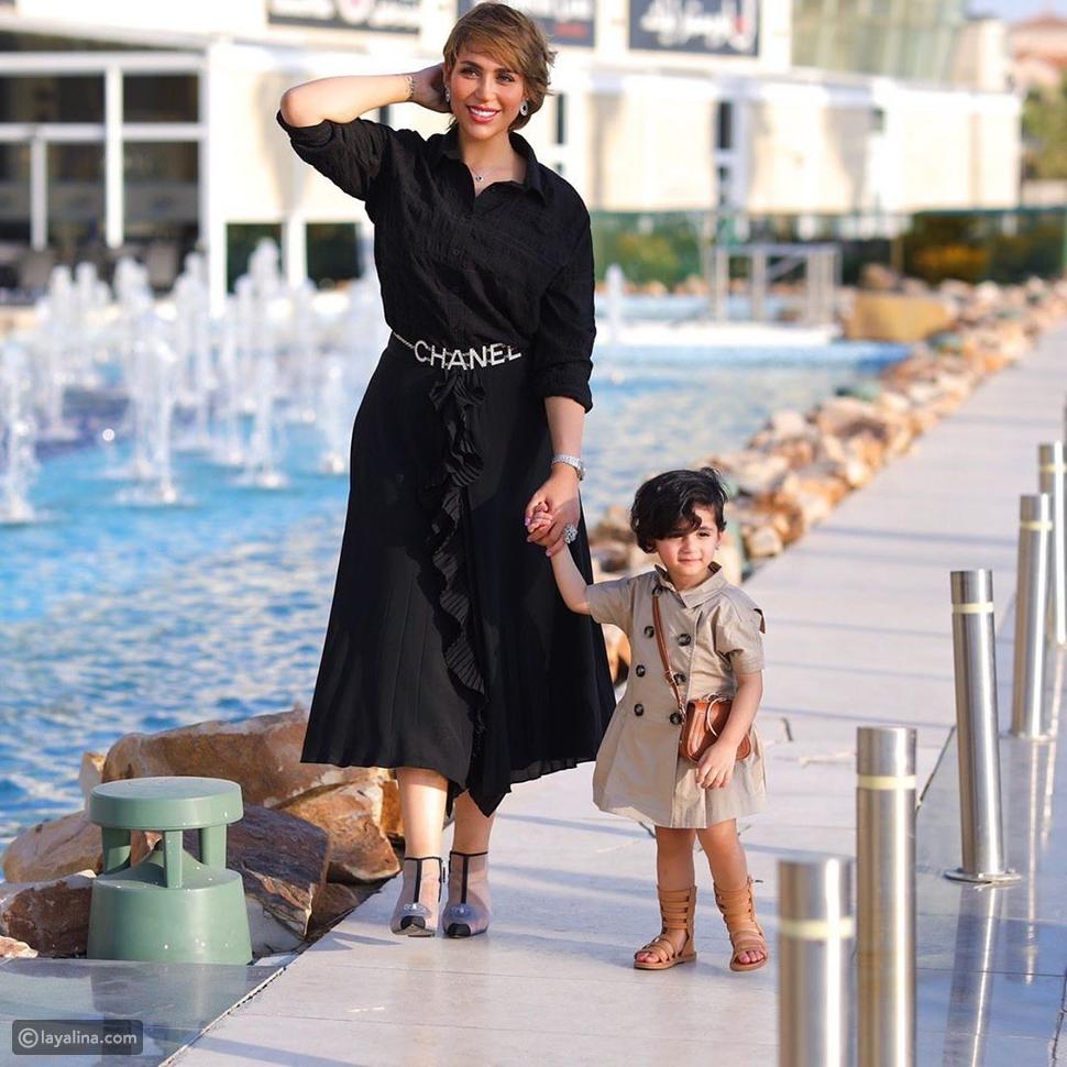 الدكتورة خلود وابنتها