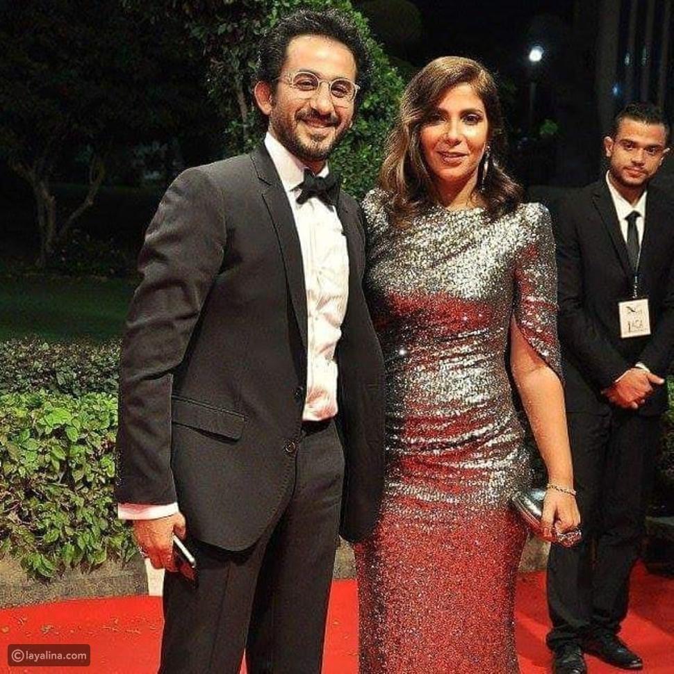 تصرفات منى زكي وأحمد حلمي الطريفة تشعل أجواء حفل جوائز السينما العربية