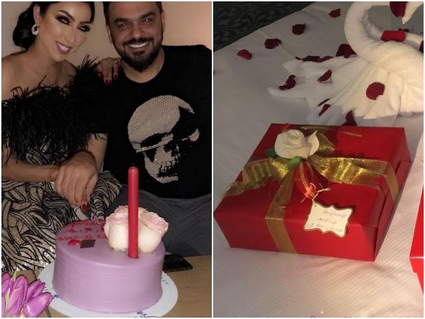 احتفال دنيا بطمة ومحمد الترك بعيد زواجهما الخامس