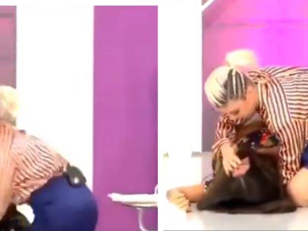 فيديو: تدخل في حالة بكاء هستيري وإغماء بعد قص جزء من شعرها !